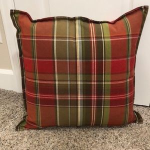 Beautiful plaid pottery barn pillow
